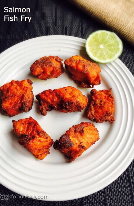Salmon fish fry Recipe for Toddlers and Kids | Fish Recipes - GKFoodDiary - Homemade Indian Baby ...