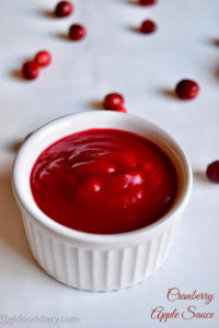 Cranberry Apple Sauce Recipe for Toddlers Kids
