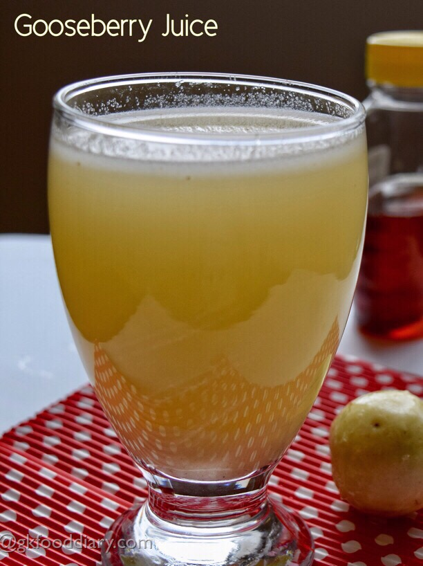 Gooseberry Juice Recipe for Toddlers, Kids