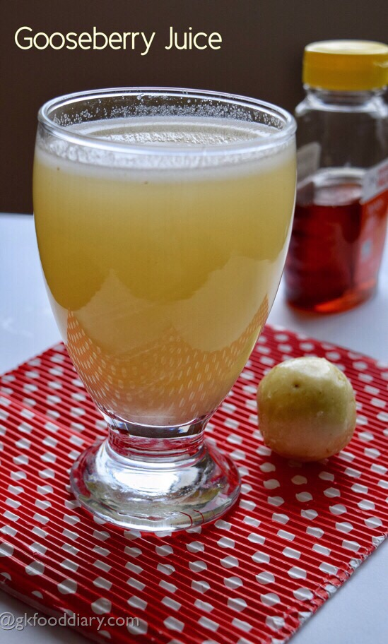 Gooseberry Juice Recipe for Toddlers and Kids