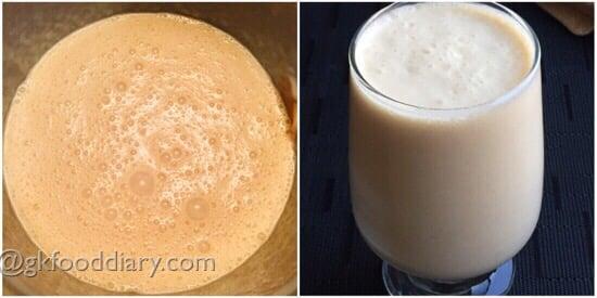 Peanut Butter Banana Smoothie Recipe Step 3