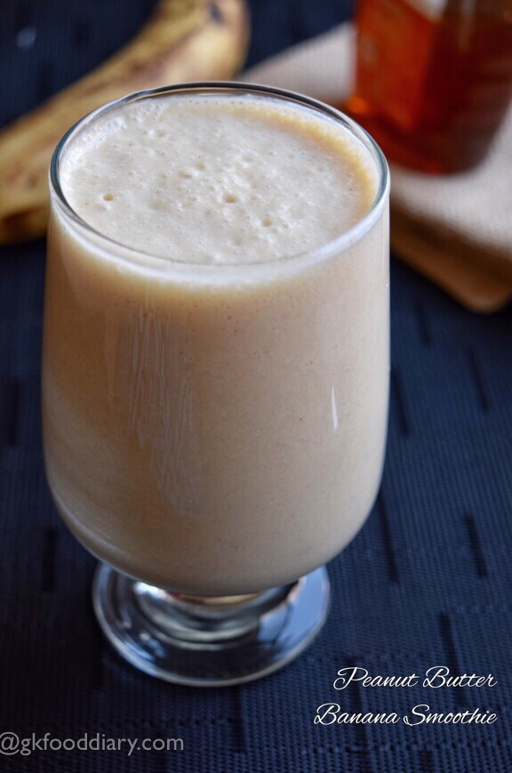 Peanut Butter Banana Smoothie Recipe for Toddlers and Kids