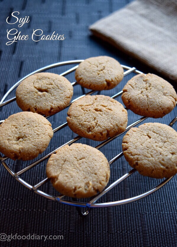 Suji Ghee Cookies Recipe for Toddlers and Kids