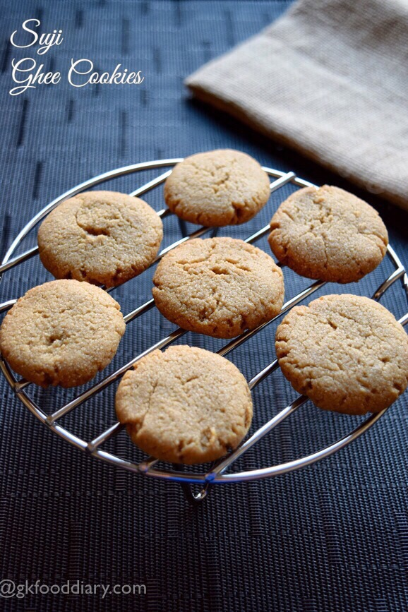 Suji Ghee Cookies Recipe