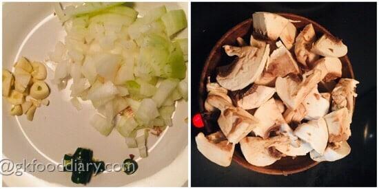 Mushroom Omelette Recipe Step 1