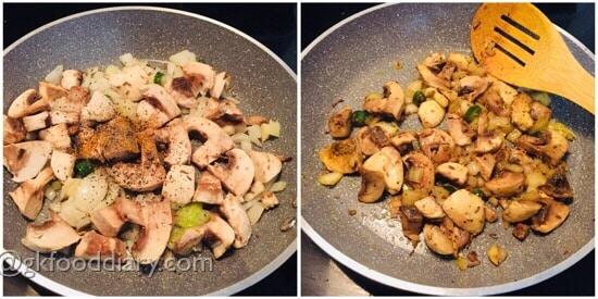 Mushroom Omelette Recipe Step 3