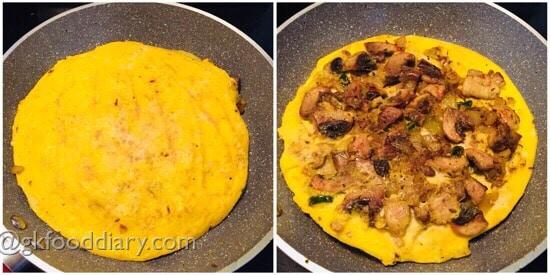 Mushroom Omelette Recipe Step 5