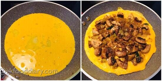 Mushroom Omelette Recipe Step 6