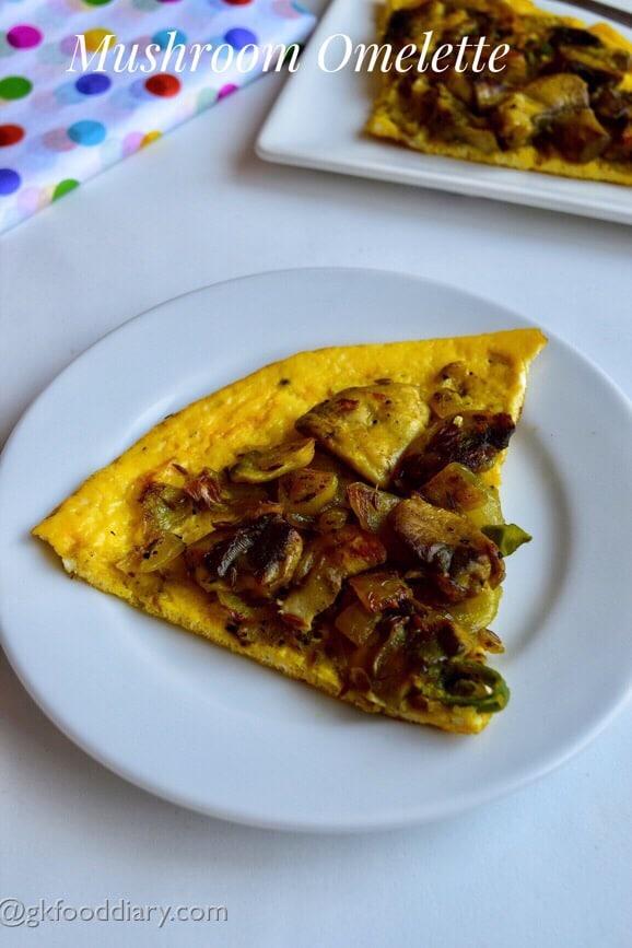 Mushroom Omelette Recipe kids