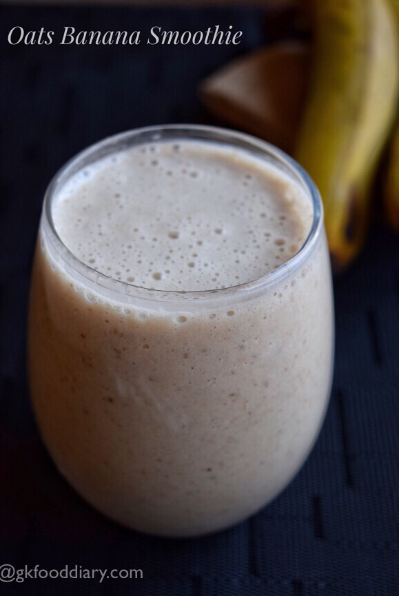 Oats Banana Smoothie Recipe for Toddlers, Kids