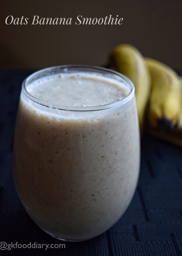 Oats Banana Smoothie Recipe for Toddlers and Kids
