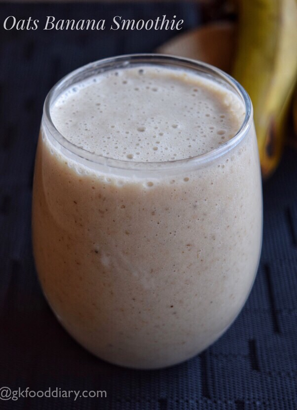 Oats Banana Smoothie Recipe for Toddlers