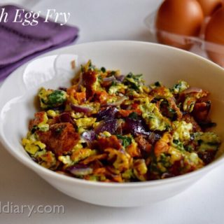 Spinach Egg Scramble Recipe for Babies, Toddlers and Kids 1