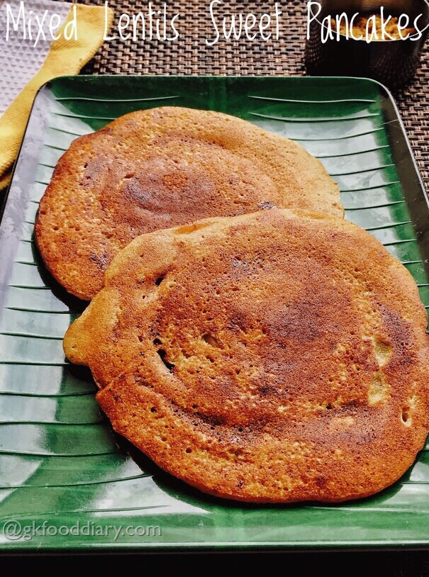 Mixed Lentils Sweet Pancakes