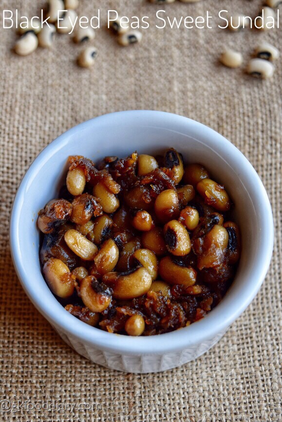 Black Eyed Peas Sweet Sundal Recipe