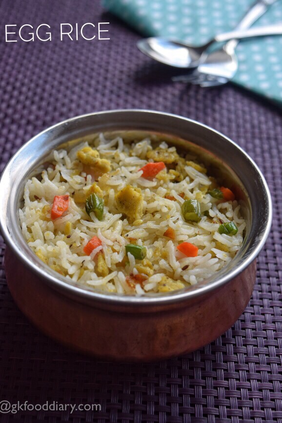 Egg Rice Recipe for Toddlers, Kids