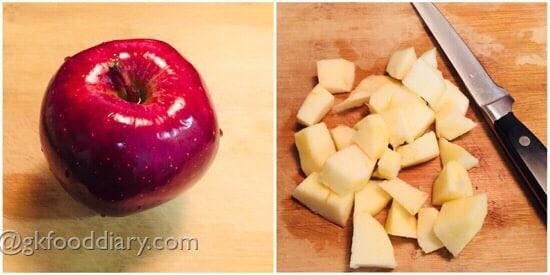 Apple Rice Porridge Recipe step 1