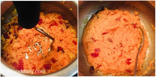 Beetroot Khichdi Step 7