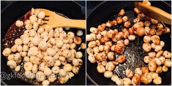 Sweet Makhana (with Jaggery) recipe step 3