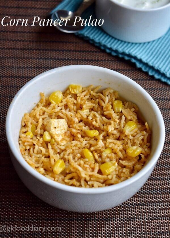 Corn Paneer Pulao Recipe