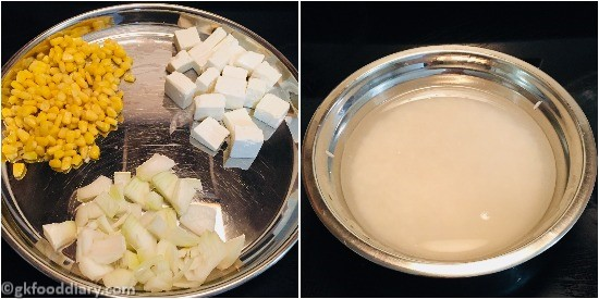 Corn Paneer Pulao - Step 1