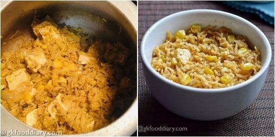 Corn Paneer Pulao - Step 7