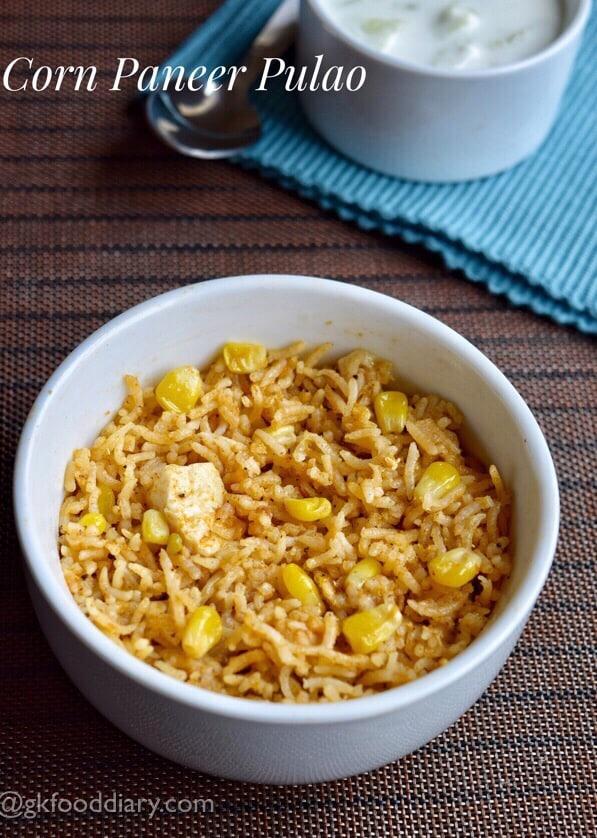 Corn Paneer Pulao