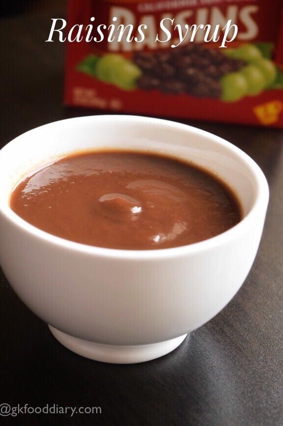 Homemade Raisin Syrup Recipe for Baby