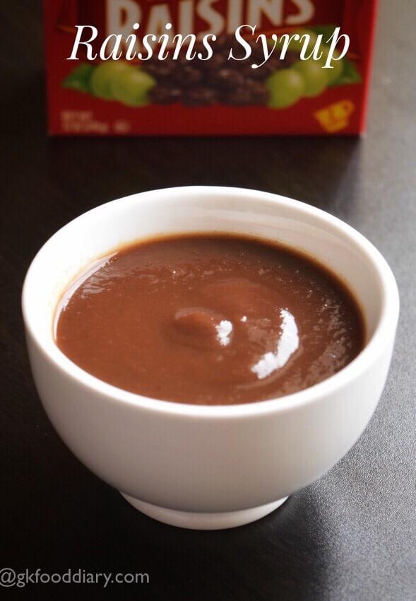 Indian Raisin Syrup Recipe