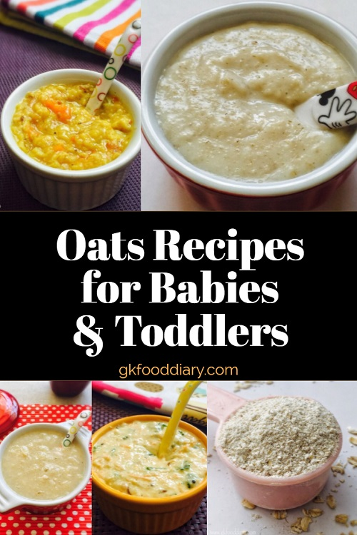 Oats Recipes for Babies and Toddlers