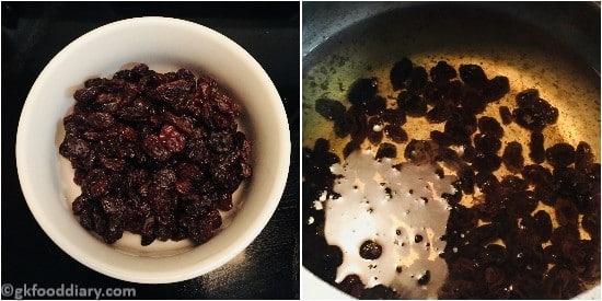 Raisin Syrup - step 1