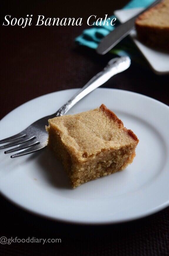 Sooji Banana Cake Recipe for Toddlers and Kids