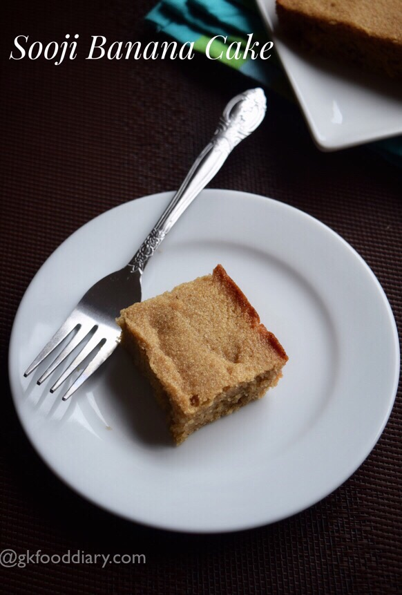 Sooji Banana Cake Recipe