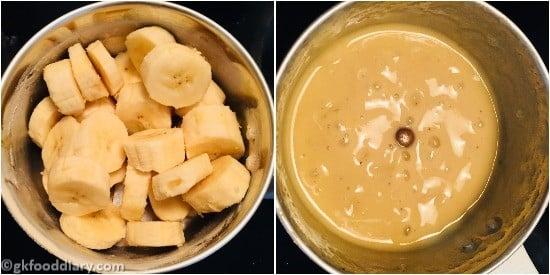Sooji Banana Cake Step 2