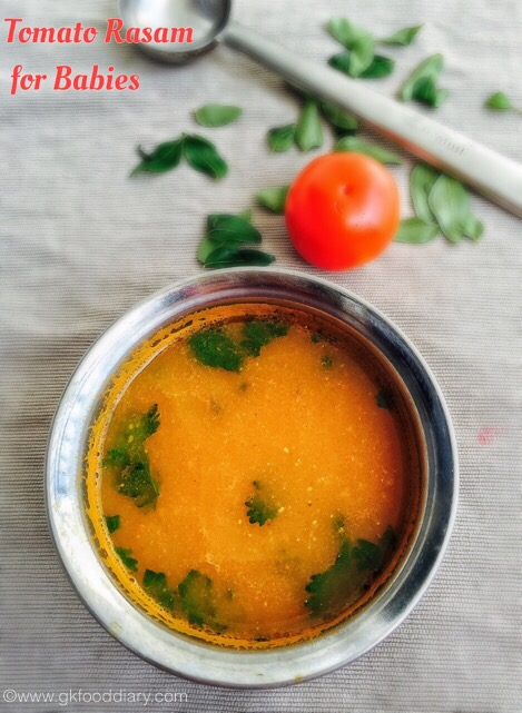 Tomato rasam 8 m gkfooddiary homemade indian baby food recipes tomato rasam recipe for babies tomato soup for babies forumfinder Images