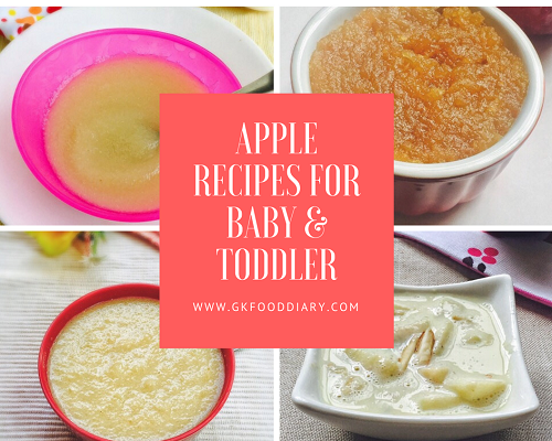 Apple Recipes for Baby & Toddlers