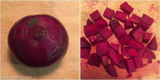 Beetroot Puree Step 1