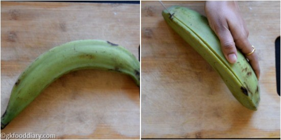 Raw Banana Powder Step 1