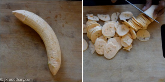 Raw Banana Powder Step 2