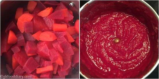Apple Beetroot Carrot Puree Step 2