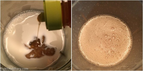 Raw Banana Powder Milkshake Step 5