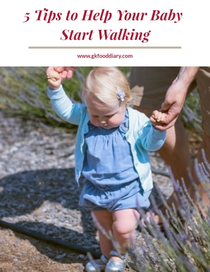 5 Tips To Help Your Baby Start Walking