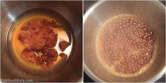 Raw Banana Powder Hlawa - Step1
