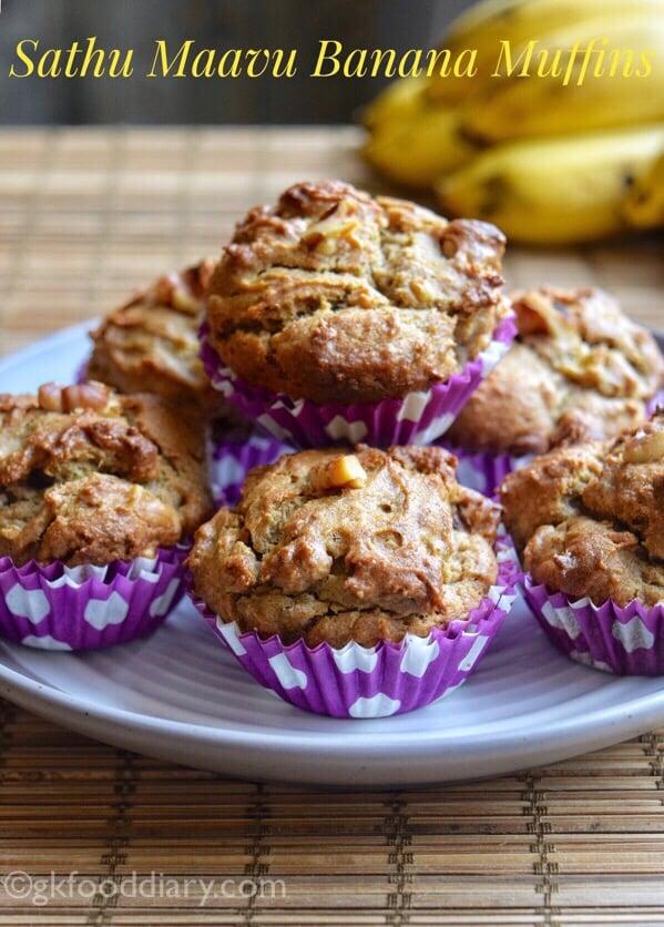 Sathu Maavu Banana Muffins Recipe