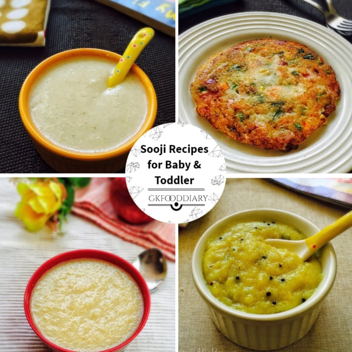 Sooji Recipes for Baby & Toddler