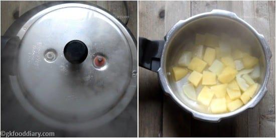 Bottle Gourd Apple Puree Step 2