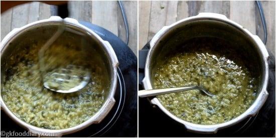 Spinach khichdi Paruppu Keerai Sadam for Babies Step 6