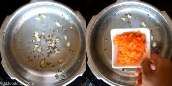 Carrot Khichdi Recipe Step 2