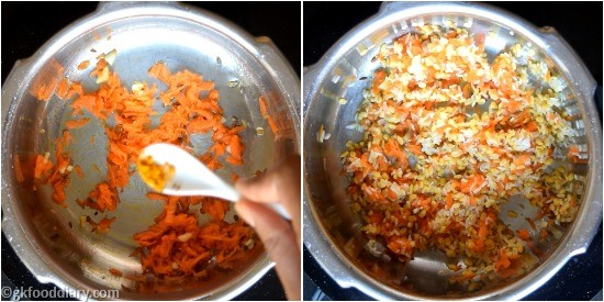 Carrot Khichdi Recipe Step 3