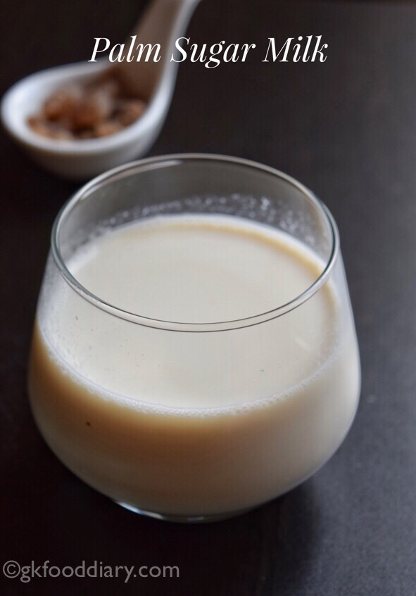 Palm sugar candy milk Recipe for Toddlers